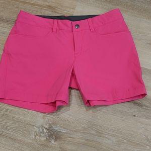 Patagonia bright pink shorts